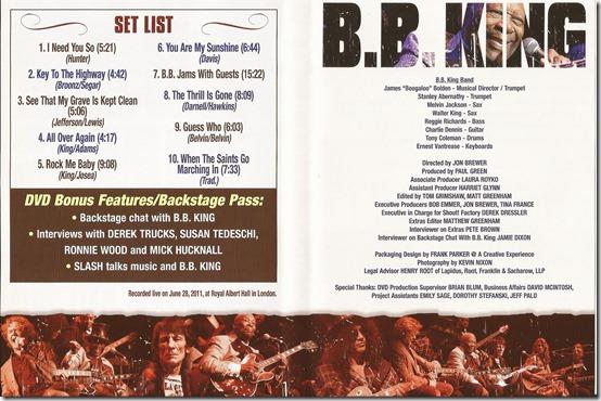 B.B. King - Live At The Royal Albert Hall 2011 - Inside