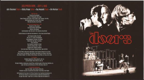 Doors - Live At The Bowl '68 - Inlay