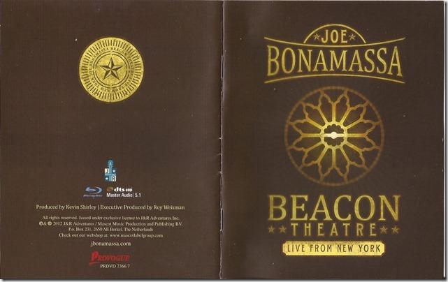 Joe Bonamassa - Live From New York - Beacon Theatre - Book 1